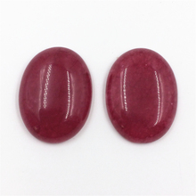 Vintage Classic Natural Stone Jewelry High Quality Noble Ruby 5X20mm Cabochonc Oval Beads (2 pcs)