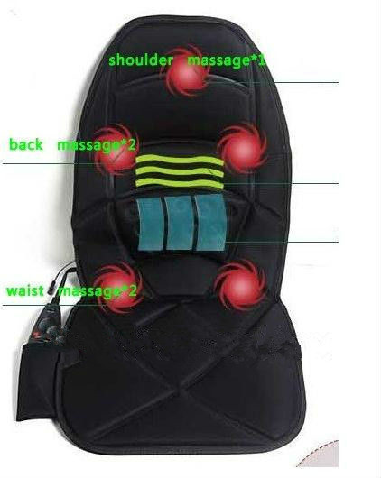 Massage chair cushion back neck shoulder waist far infrared heating and vibration massage hot seat office car to go home(China (Mainland))