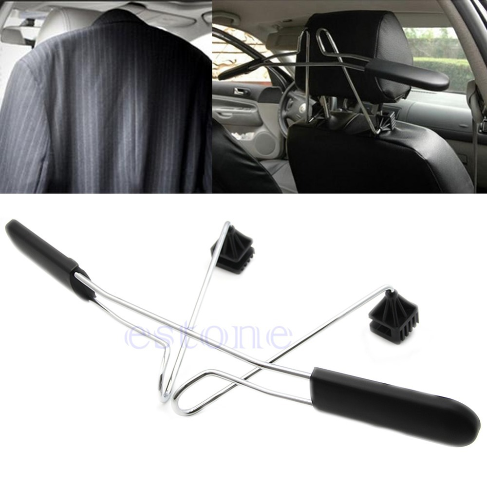 Free Shipping Car Auto Seat Headrest Clothes Coat Suit Jacket Stainless Metal Hanger Holder