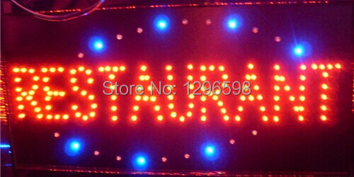 2015 hot sale customed low power 10X19 inch semi-outdoor Ultra Bright LED restaurant advertising signs(China (Mainland))