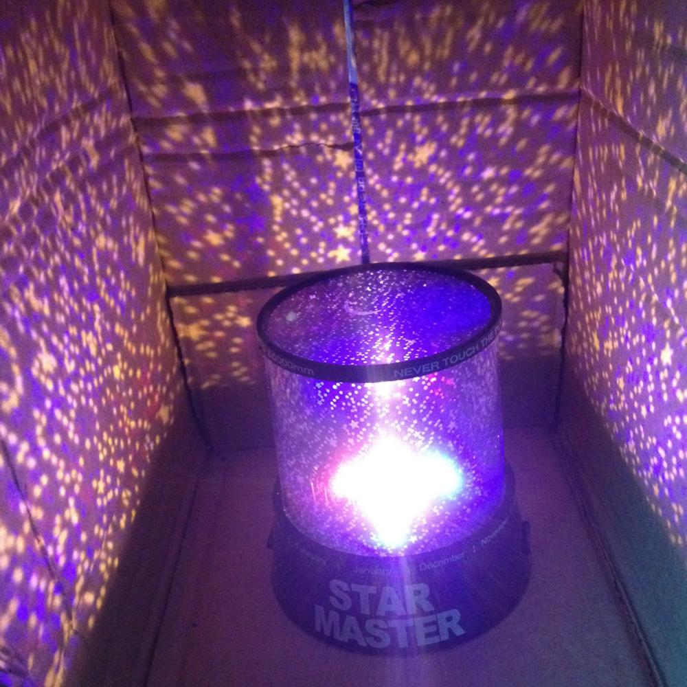 Night light projector lamp -  Room Hall Novelty Usb Night Light Projector Lamp Rotary Flashing Starry Star Moon Sky Led Star
