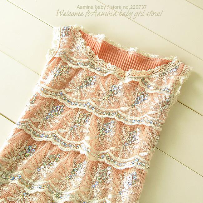 Aamina Sequins Lace vest baby font b girls b font t shirts summer font b