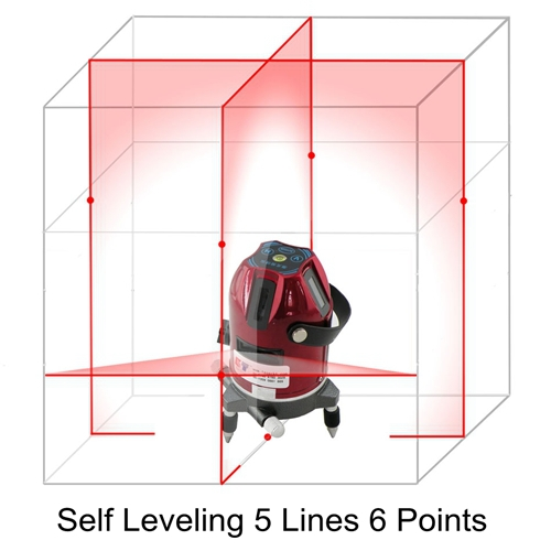 Лазерный уровень Kaitian 635nm 5 6 5 Lines 6 Points Laser Level green acuangle a8832g laser level 635nm 2 cross lines 360 rotary laser levels indoor outdoor portable automatic high brightness