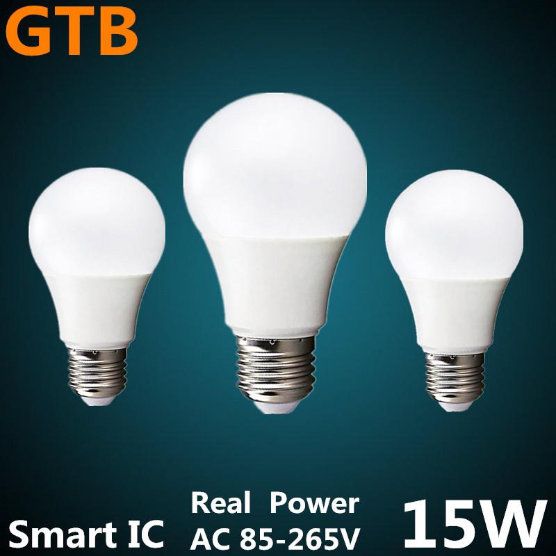 LED Bulb Lamp E27 220V Lampada Bombilla Ampoule LED 3W 5W 7W 9W 12W 15W Smart IC High Brightness Cold White / Warm White(China (Mainland))