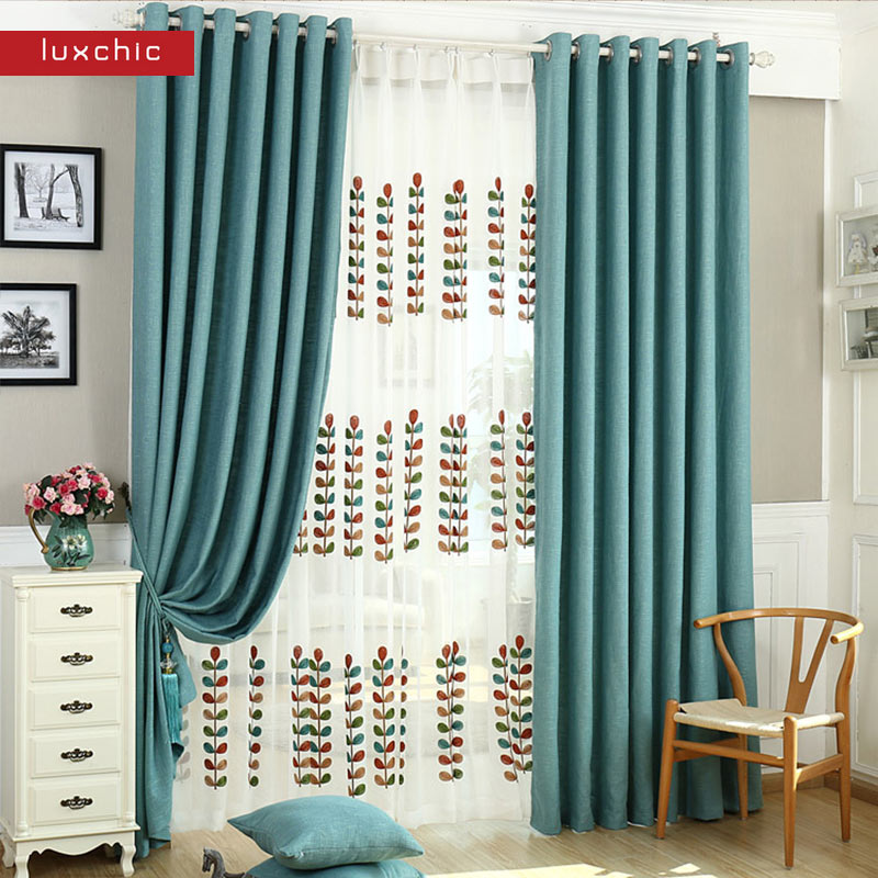 Luxchic ST6 Window Curtains For living Room/ Bedroom Blackout Curtains Window Treatment /drapes Home Decor Free Shipping(China (Mainland))