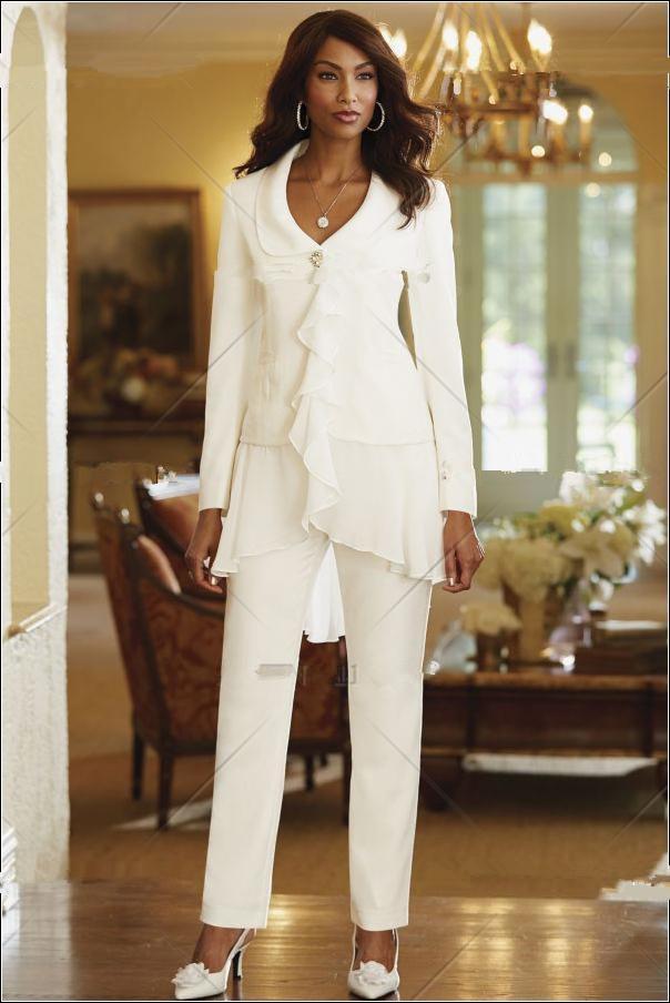 Ladies White Dress Pants