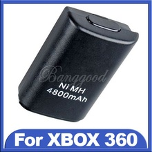 2015 Hot Sale New Black 4800mAh Ni-MH USB Rechargeable Battery For Xbox 360 Wireless Controller Console Wholesale Price