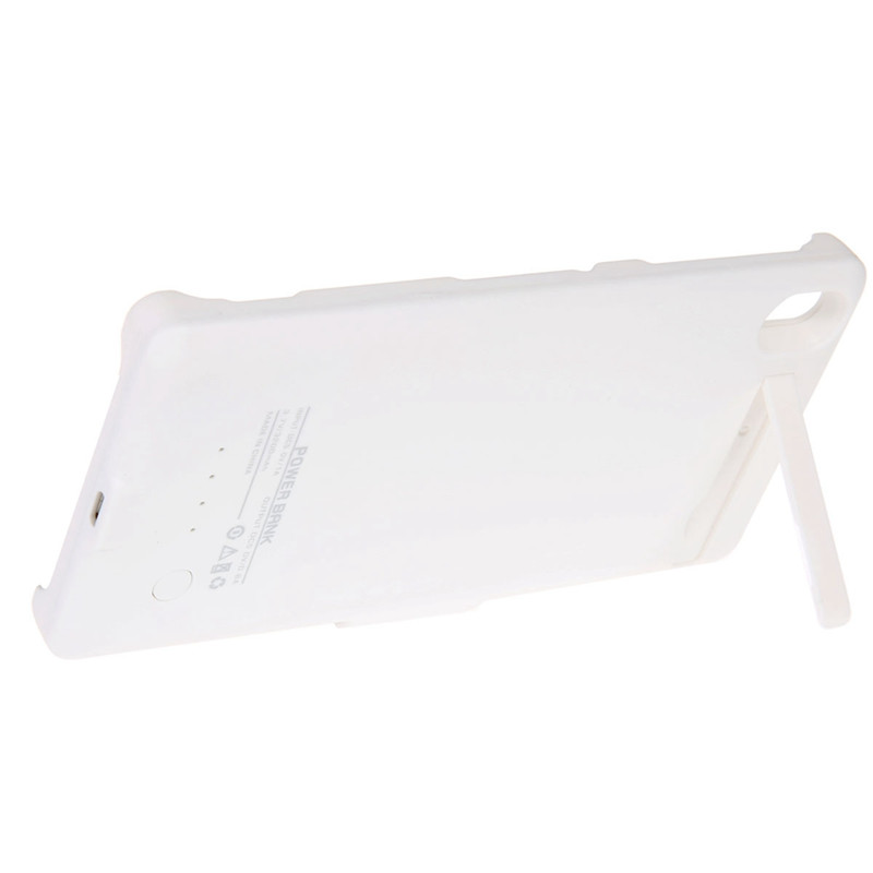 Free Delivery 3200mAh Power Bank Case Removable Backup Battery Charger Cover Back Housing With Stand For Sony Experia Z3
