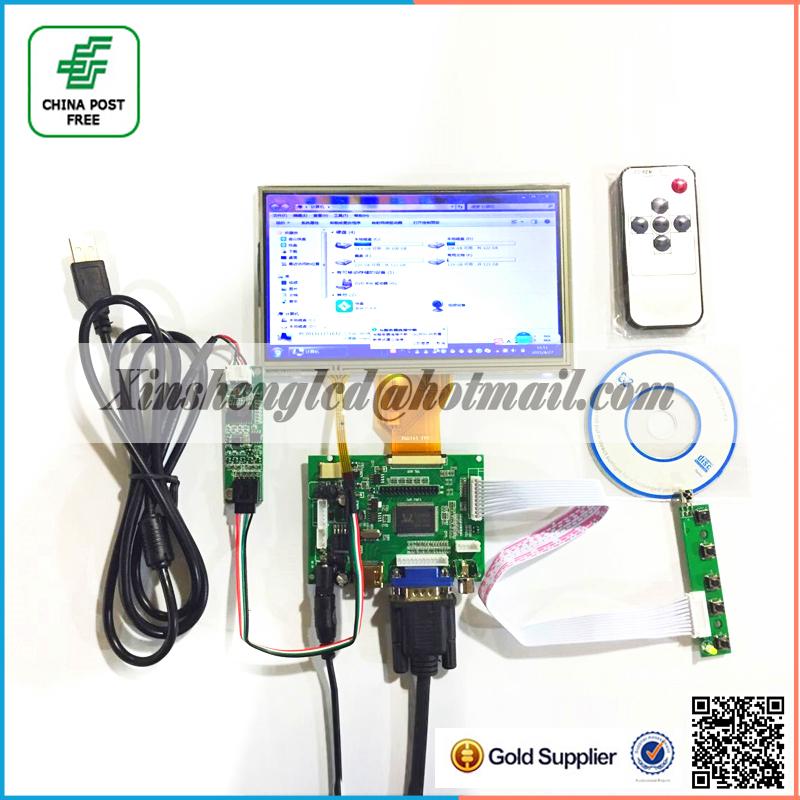 """Innolux 7 """" pouces Raspberry Pi LCD écran tactile TFT AT070TN90 avec entrée VGA tactile Kit HDMI carte de conducteur(China (Mainland))"""