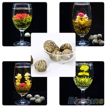 4 Balls Chinese Artisan Different Handmade Blooming Flower Green Tea 02M3