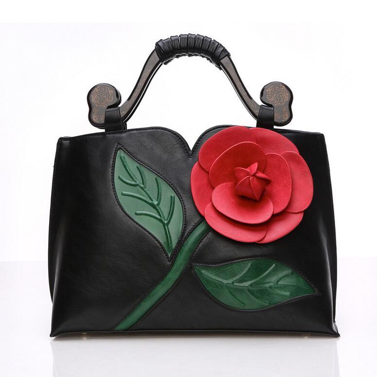 Women National Bag Fashion Messenger Bags Retro Handbags With Flower PU Leather High Quality Shoulder Bags Luxury designer<br><br>Aliexpress