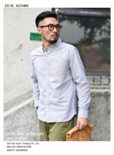 Camisa Vintage Original de SauceZhan con Oxford mixto de 6 colores, Camisa de algodón de manga larga, camisa de Color sólido, camisa de hombre de Yu Welle(China)