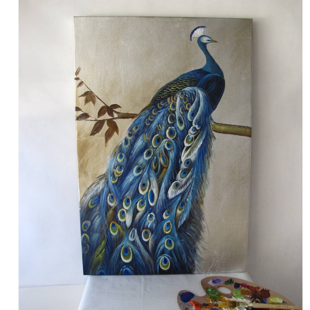 Wall Painting Of Peacock