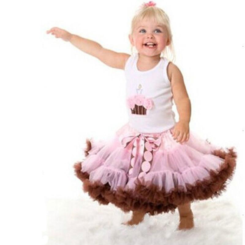New 2016 Fashion Girls Tutu Skirt Fluffy chiffon Pettiskirts Baby Girls Princess party Skirts high quality baby girl clothes(China (Mainland))
