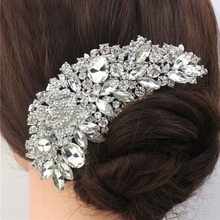 Crystal rhinestone combs hair combs Clearly flowers for wedding jewelry hair accessories bridal Comb Free Shipping(China (Mainland))
