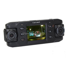 NEW Dual Lens Car Camera Two Lens Vehicle DVR Dash Recorder GPS G sensor CA365 X8000