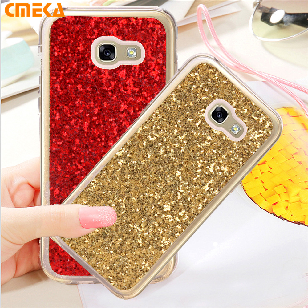 For Samsung Galaxy A5 2017 A3 Case Flash Shine Glitter TPU Rugged Silicone Rubber Cover For Samsung 2017 A5 A520 A320 Phone Case(China (Mainland))