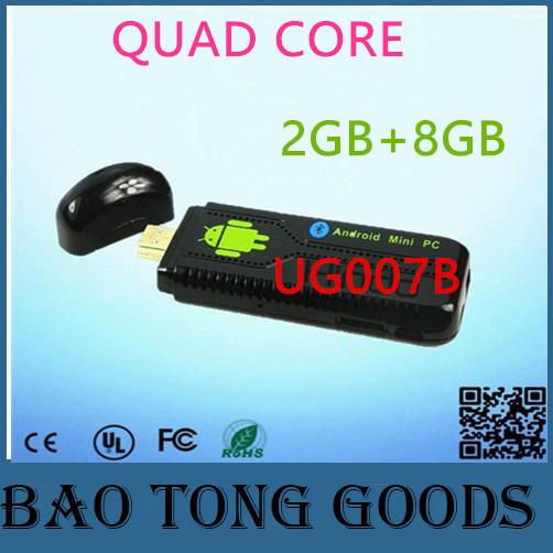 UG007B Wireless Smart Mini pc Android Quad Core HDMI TV Stick Amlogic 2/8GB support DLNA Miracast Bluetooth XBMC Watch online TV(China (Mainland))