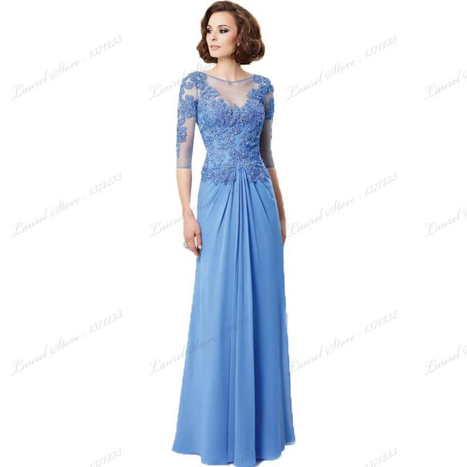 2015 chiffon summer short sleeve mother of bride dresses for Long sleeve dresses to wear to a wedding