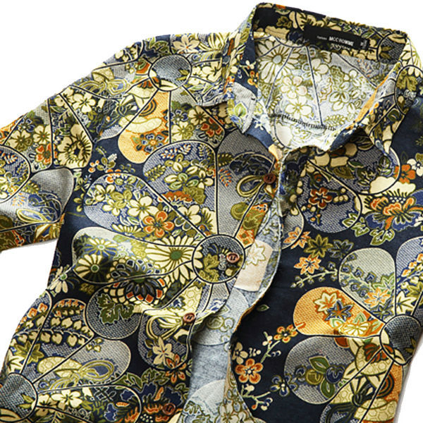 8 Colors Plus Size M 6XL 2015 New Fashion Spring Men s Floral Shirts Camisa Masculina