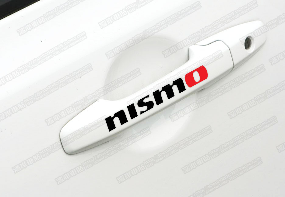 Tin NISMO vinyl decal for car's door handle car sticker 4 pcs in one set(China (Mainland))