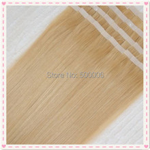 7A grade brazilian remy PU skin weft tape in hair extensions 100g/40pcs #613 DHL free shiping(China (Mainland))