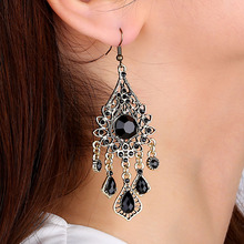 Fashion Jewelry Bohemia Water Droplets Tassel Drop Earrings National Sytle Charm Hanging Earrings for women lady(China (Mainland))