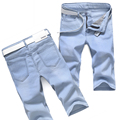 New Arrival Men Knee Length Straight Jeans Summer Men Short Jeans xb6001 1