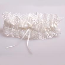 Sexy Lace Wedding Leg Garter Ivory Bowknot Bridal Accessories Garters