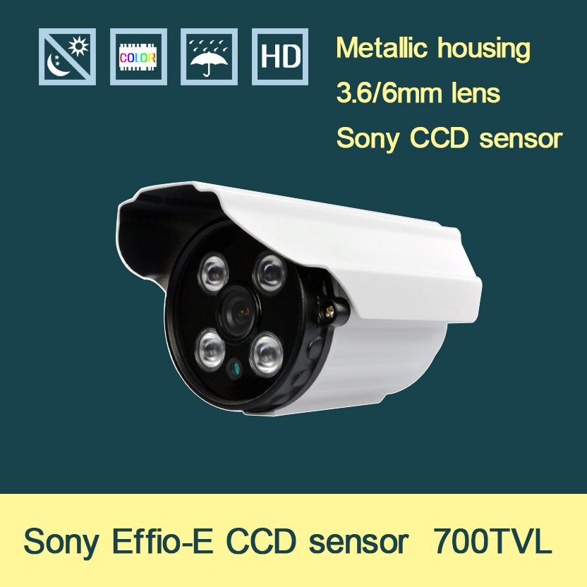 SONY EFFIO-E 700TVL HD 3.6/6mm lens the newest private mode four NM H.LED IR 20M indoor CCTV camera(China (Mainland))