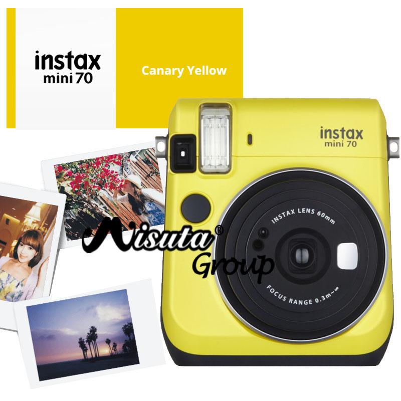 Fujifilm Fuji Mini 70 Camera Fuji Instax Mini 70 Instant Film Photo Camera Blue Yellow Red Gold Color Available(Hong Kong)
