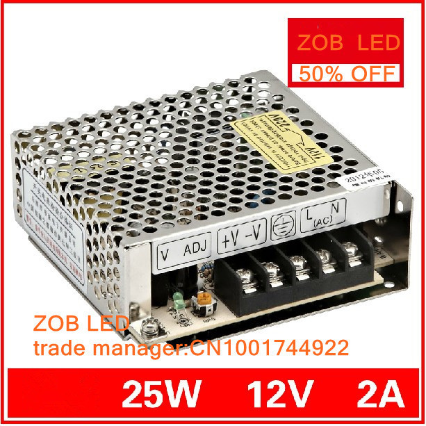 25W 2.1A LED Switching Power Supply,100~120V/200~240V AC input,Output power suply 12V in stocks--2PCS/LOT<br><br>Aliexpress