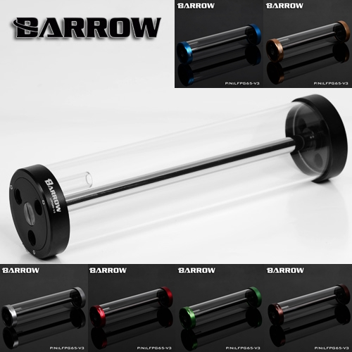Barrow color 270MM65MM diameter cylindrical quartz glass tank cooling water tank computer LFPG65-V3()