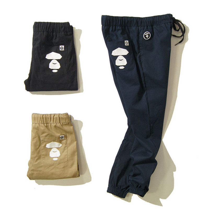 bape pants die -beam leg Pants 2015 New Brand Cargo Khaki Black Blue Mens Joggers Fall Fashion Hip Hop Bape - Jonly-YY store