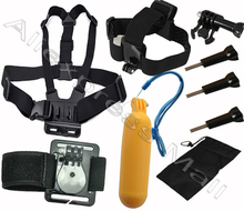 Buy BYNCG Gopro Hero 5 Accessories Set Chest Head Hand Mount Strap Floating Bobber Monopod Go pro Hero 4 Sj4000 Black Edition for $9.99 in AliExpress store