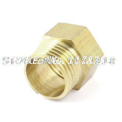 """Brass 1/2"""" NPT Female to 1/2"""" PT Male Thread Hex Busing Pipe Fitting Connector(China (Mainland))"""