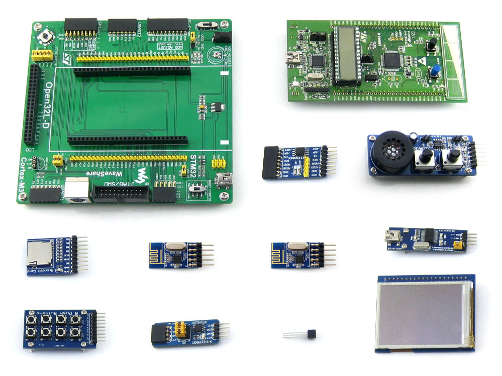 10PCS The ARM STM32L-DISCOVERY STM32L152 development board +2.2 \u0026quot; LCD +8 modules(China (Mainland))