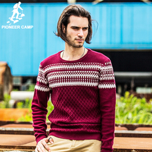 Pioneer Camp 2016 fashion autumn new arrival men's sweater 100%cotton soft casual pullover coat male sweater plus(China (Mainland))