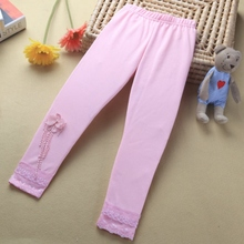 Baby Kids Girls Lace Flower Ballet Dance Tight Pants Stretch Trousers