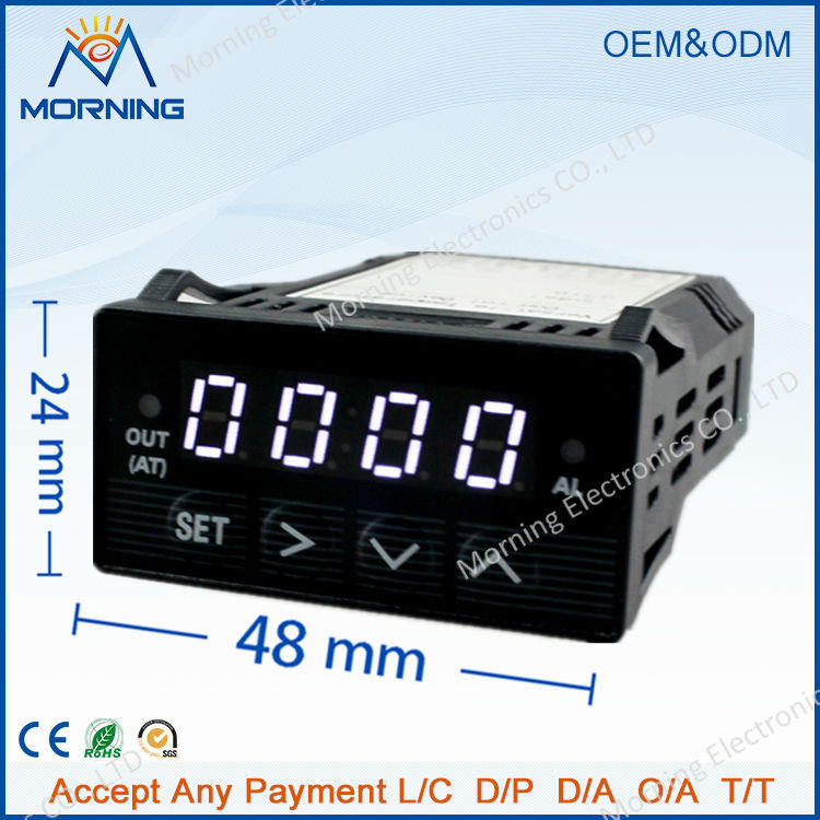 XMT7100 Mini Size 48*24mm Intelligent DC 24V Supply PID White LED Digital Temperature Controller for Exhaust gas control use(China (Mainland))