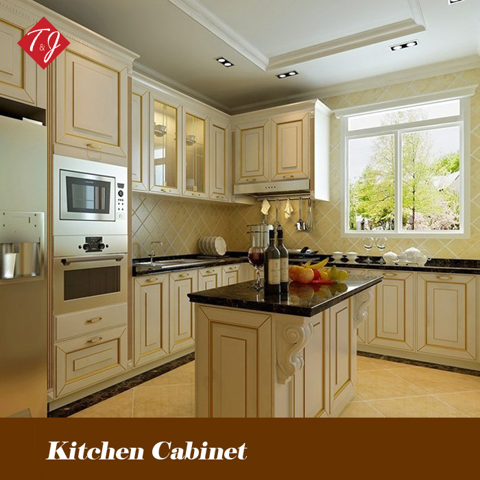 Free design Classic Style solid wood kitchen cabinet Kitchen cabinets with door-to-door service gabinete de cozinha SW14(China (Mainland))