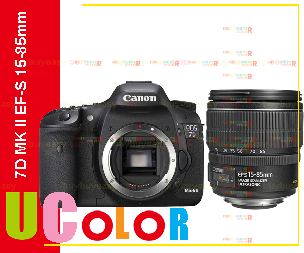 Original New Canon EOS 7D Mark II DSLR Camera Body with EF-S 15-85mm f3.5-5.6 IS USM Lens(Hong Kong)