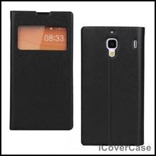 S View Side Flip Smart Cover Leather Case for Xiaomi Redmi Hongmi