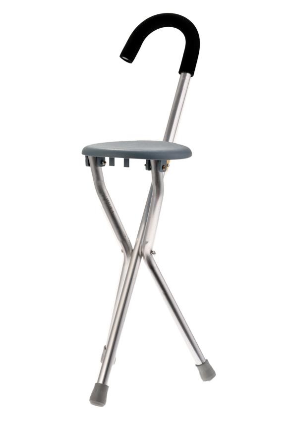 Adjustable Folding Walking Cane Chair Stool Tripod Massage