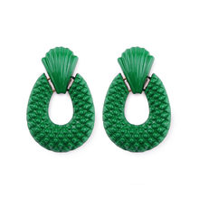 Girlgo Charm Za Drop Dangle Earrings For Women Handmade Green Beads Statement Pendant Earrings Luxury Trendy Pendientes Jewelry(China)