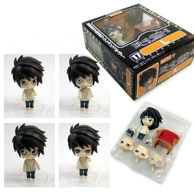 Japanese Amine figure Death Note figma Mini Q Ver L.Lawliet 11cm PVC Action Figure Toys Models Gifts kids toys for boys Figma(China (Mainland))