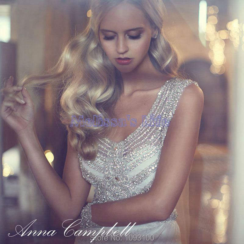 Anna campbell lace beach wedding dresses 2015 white luxury for Robes de mariage anna campbell