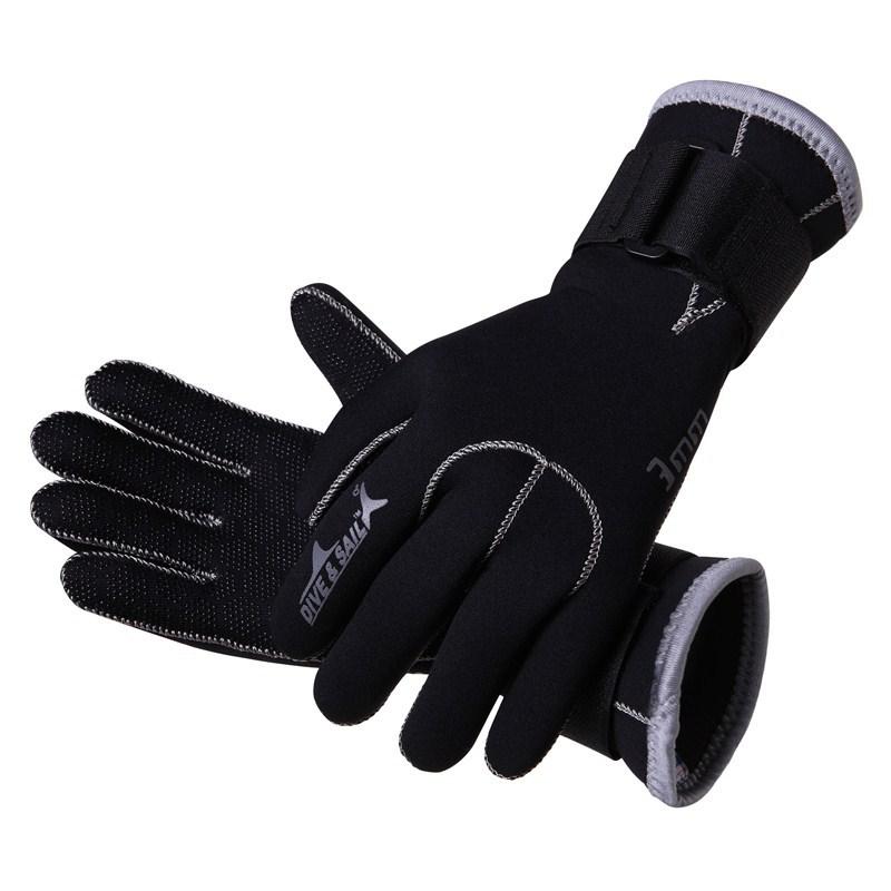 3mm Neoprene scuba dive gloves Snorkeling Equipment Anti Scratch skid Keep warm Wetsuit material Winter swim spearfish free ship(China (Mainland))