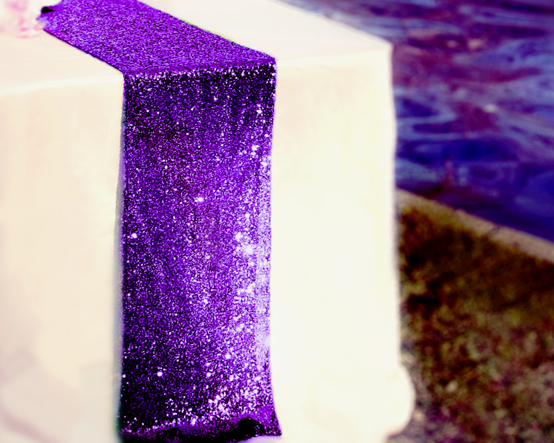 "Table Runner 12"" x 108"" Sequin TableCloth Dark Purple Sequin Table Cloth Sequin Eggplant Sequin Sparkly Purple Runner(China (Mainland))"