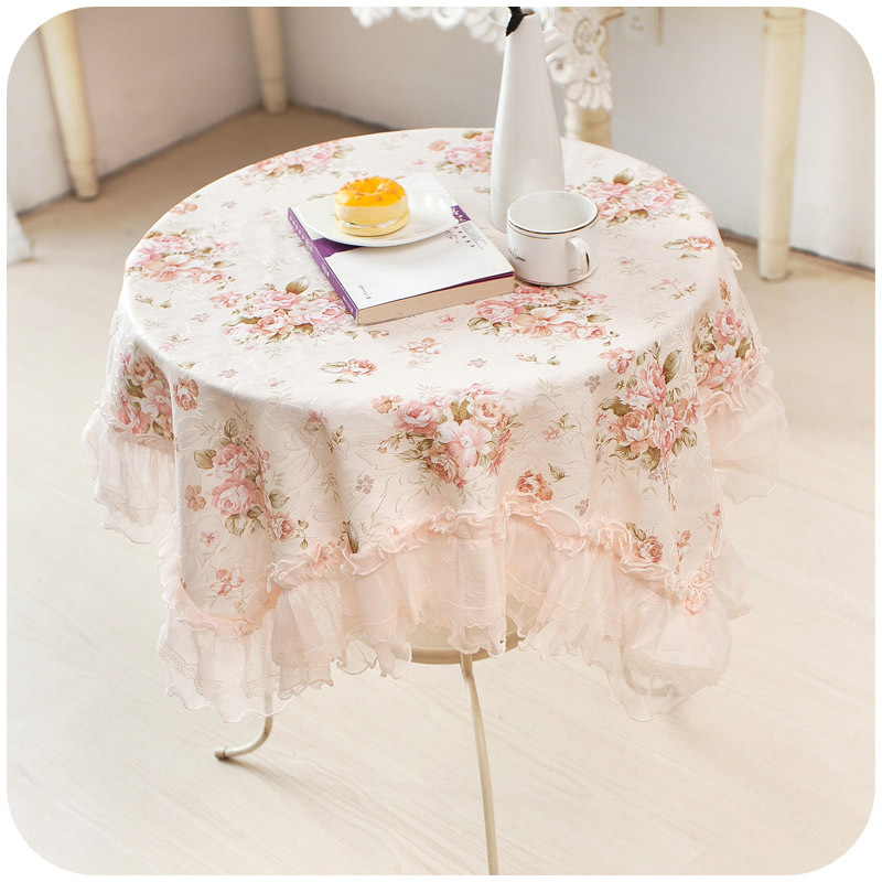 Lace Tablecloth Flower Elegant Table Cloth Cover Overlays Dining Table Decoration Mantel De Mesa Lace Home Decor Textiles(China (Mainland))